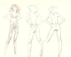 Peter Collins ARCA - c.1970s Graphite Drawing, Studies of a Model