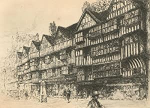Edward J. Cherry F.R.S.A - Early 20th Century Etching, Elizabethan Houses