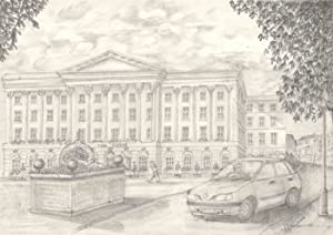 John Edwards - Signed Contemporary Graphite Drawing, Queens Hotel, Cheltenham