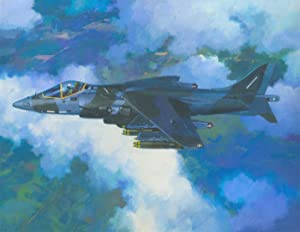 Pat Owen GAVA - Signed Contemporary Acrylic, Study of Fighter Jet Pegasus 11-61