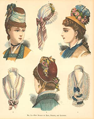 Late 19th Century Woodblock - Victorian Fashion Illustration