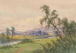Frank Hider (1861-1933) - Late 19th Century Watercolour, Landscape with Sheep