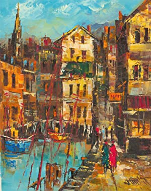 Contemporary Acrylic - Mediterranean Harbour View