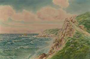 A. Binbeck - Early 20th Century Watercolour, Coastal Landscape from Cliffs