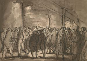 Harold Hope Read (1881-1959) - Pen and Ink Drawing, Busy London Street Scene