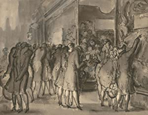 Harold Hope Read (1881-1959) - Pen and Ink Drawing, Shopping Scene