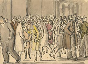 Harold Hope Read (1881-1959) - Pen and Ink Drawing, Bustling London Street Scene