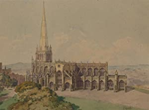 Henry Callen - Late 19th Century Watercolour, St. Mary Redcliffe, Bristol