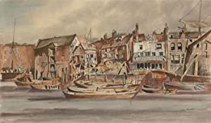 Ernest Walters - Signed Contemporary Watercolour, River Street Scene