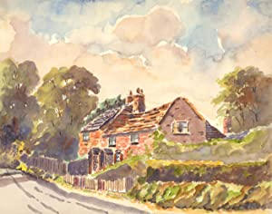 H.R.C - Three Early 20th Century Watercolours, Rural Street Scenes