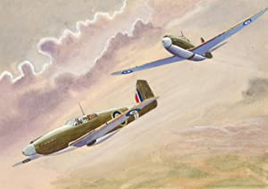 Mid 20th Century Watercolour - Two Fighter Planes