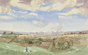 Harry Herbert - Signed 2000 Watercolour, The Farmlands