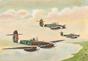 Mid 20th Century Watercolour - HE Camouflage Planes