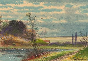 Abraham Hulk Junior (1851-1922) - Signed 19th Century Watercolour, River View