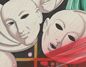 20th Century Mixed Media Illustration - Theatre Masks