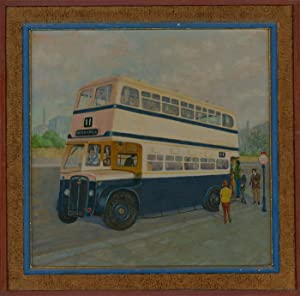 H.A. Sims - 20th Century Acrylic, Study of a Bus