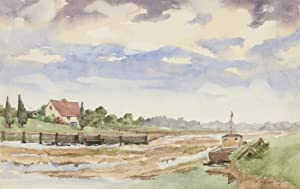 Harry Herbert - Signed 1991 Watercolour, The Mudflats