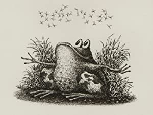 Signed 2013 Etching - Frog with Flies