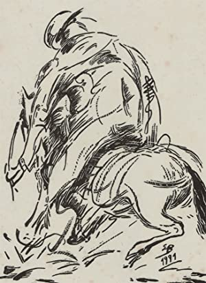 1991 Linoprint - Study of a Racehorse