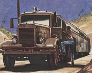 20th Century Mixed Media Illustration - Oil Tanker