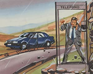 20th Century Mixed Media Illustration - Telefono