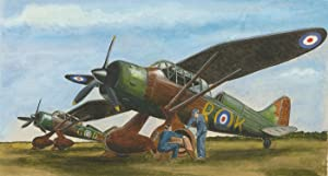 Mid 20th Century Watercolour - Camouflage Planes