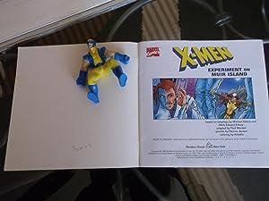 X-Men experiment on Muir Island, with Wolverine figure: Michael Edens, Paul Mandell