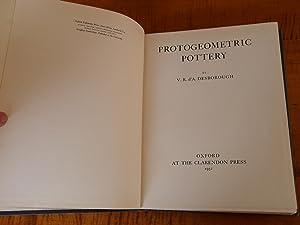 PROTOGEOMETRIC POTTERY: V. R. d'A.
