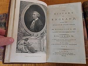 THE HISTORY OF ENGLAND: David Hume, T. Smollett