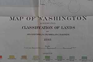 MAP OF WASHINGTON SHOWING CLASSIFICATION OF LANDS By Geo. H. Plummer, F. G. Plummer and J. H. Rankie