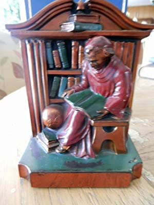 RONSON READING MONK BOOKENDS