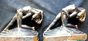 Art Deco /Art Nouveau Nude Ladies Back Bending, Bookends