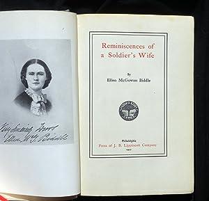 REMINISCENCES OF A SOLDIER'S WIFE.: Biddle, Ellen McGowan.