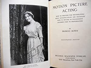 MOTION PICTURE ACTING: HOW TO PREPARE FOR PHOTOPLAYING, WHAT QUALIFICATIONS ARE NECESSARY, HOW TO ...