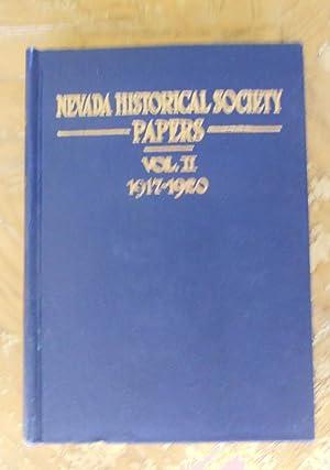 NEVADA HISTORICAL SOCIETY PAPERS, VOL. II, 1917-1920.: Nevada Historical Society,