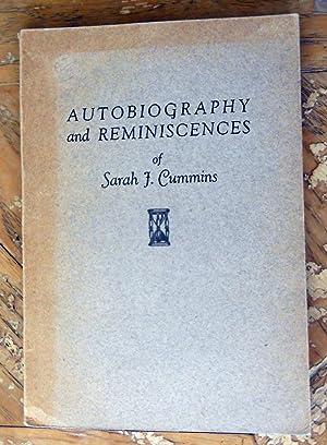 AUTOBIOGRAPHY AND REMINISCENCES.: Cummins, Sarah J.,