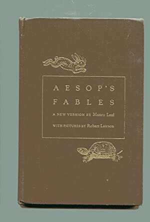 AESOP'S FABLES. A New Version: Leaf, Munro