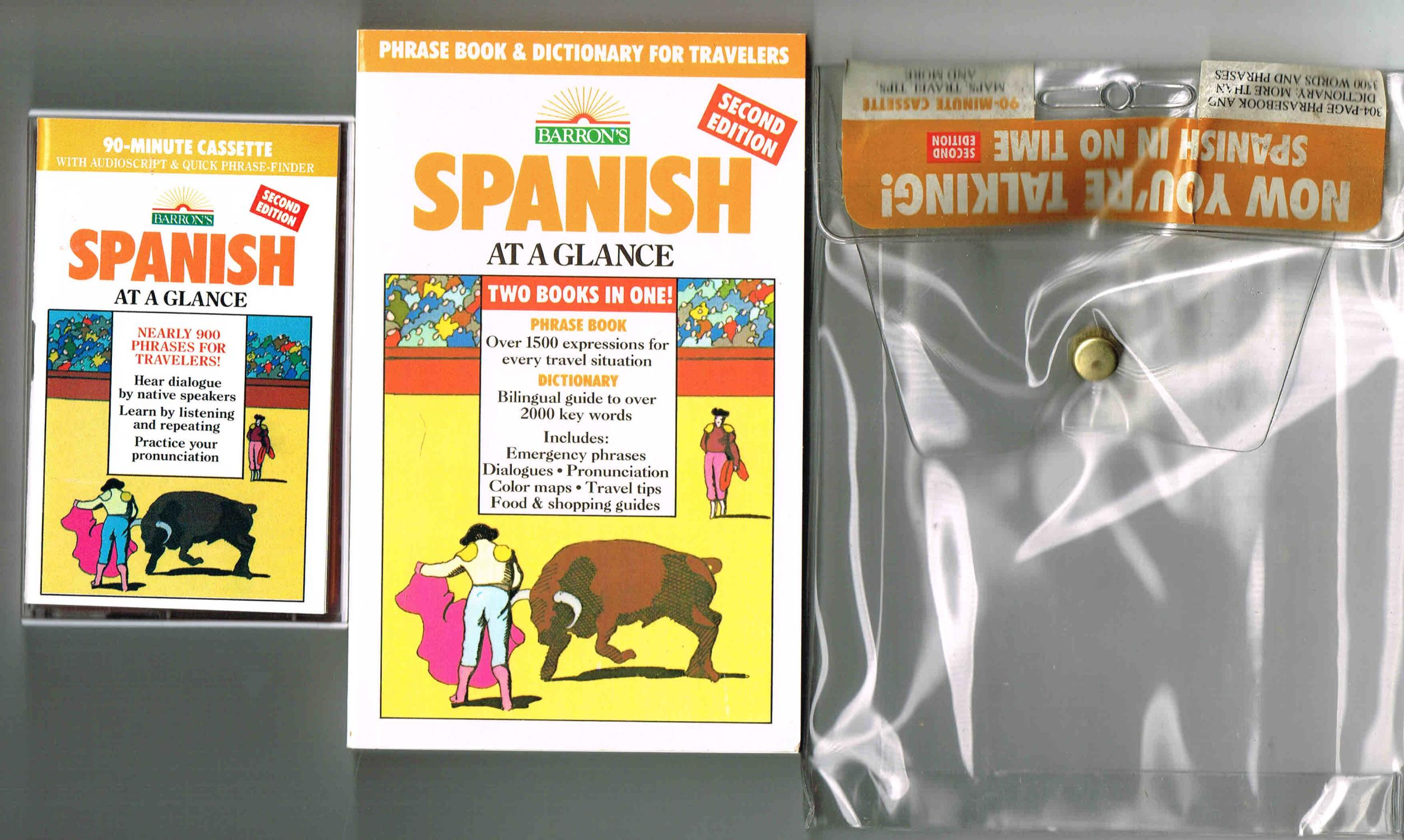 SPANISH AT A GLANCE: TWO BOOKS IN ONE! (