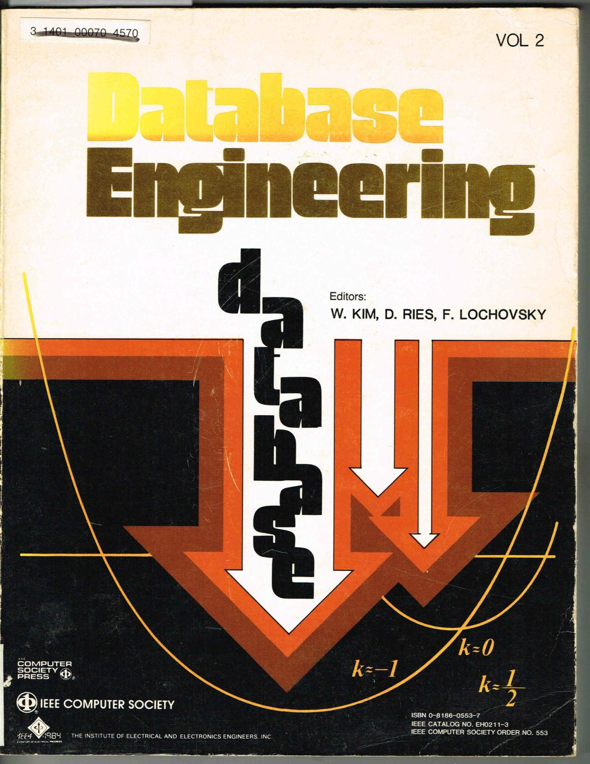 database engineering volume 2 two ii kim won ries - Database Engineers