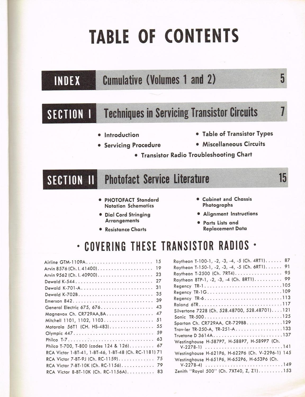 Servicing Transistor Radios with Analysis of