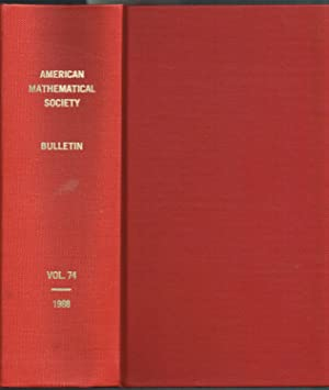 Bulletin of the AMERICAN MATHEMATICAL SOCIETY, Volume 74 (Numbers 1-6), Jan-Nov 1968