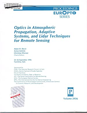 Optics in Atmospheric Propagation, Adaptive Systems, and: Devir, Adam D.