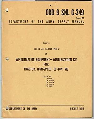 ORD 9 SNL G-249, Volume 25, SUPPLY: Department of the