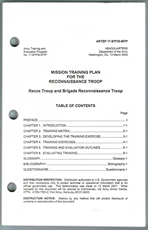 ARTEP 17-97F30-MTP: MISSION TRAINING PLAN FOR THE RECONNAISSANCE TROOP - Recce Troop and Brigade ...