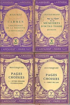 CLASSIQUES LAROUSSE VI Editions: CARMEN: L'ENLEVEMENT -: Merimee; Chateaubriand; Montesquieu