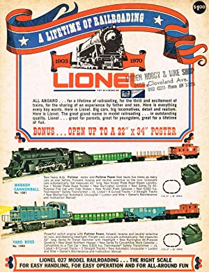 A LIFETIME OF RAILROADING 1903 - 1970: LIONEL / Model