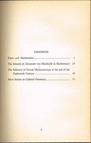 FABRE AND MATHEMATICS AND OTHER ESSAYS (Number Four in THE SCRIPTA MATHEMATICA LIBRARY series): ...