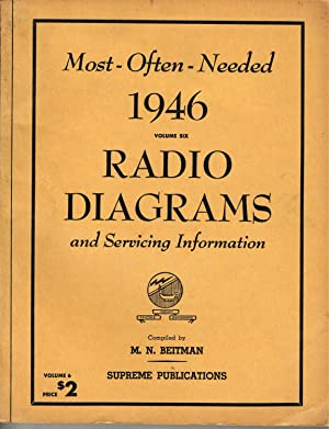 Most Often Needed 19462 Radio Diagrams and: Beitman, M. N.