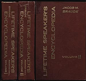 Lifetime Speaker's Encyclopedia (2 Vol. set): Jacob M. Braude