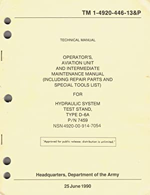 U.S. Army Technical Manual, HYDRAULIC SYSTEM, TEST: Department of The